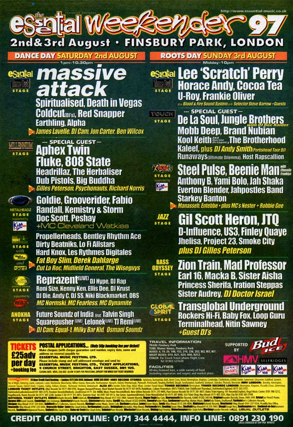 1997-08-02-EssentialWeekender97-FinsburyPark-London-England-flyer